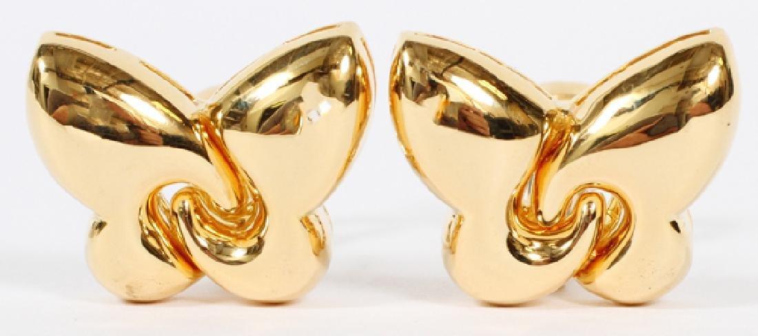 BULGARI 18KT YELLOW GOLD BUTTERFLY EARRINGS