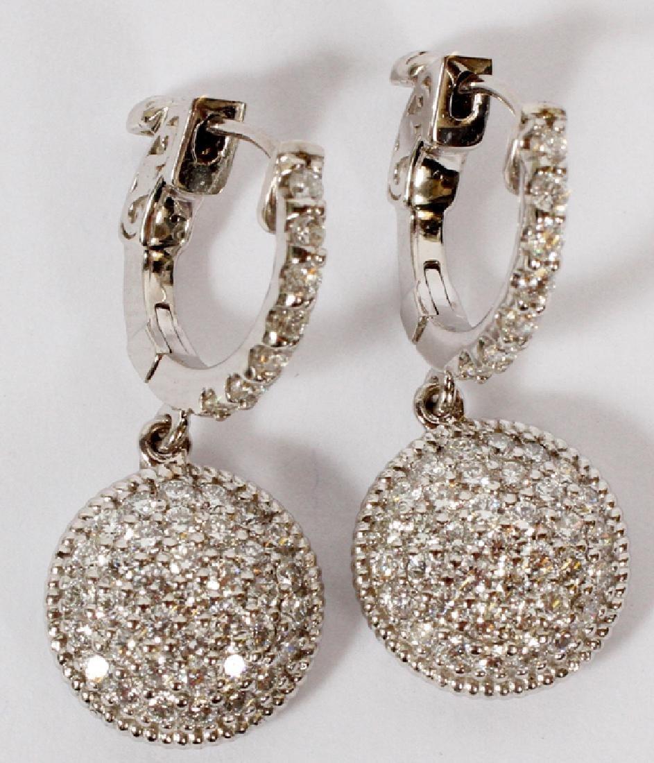 1.10CT DIAMOND CIRCLE DANGLE EARRINGS