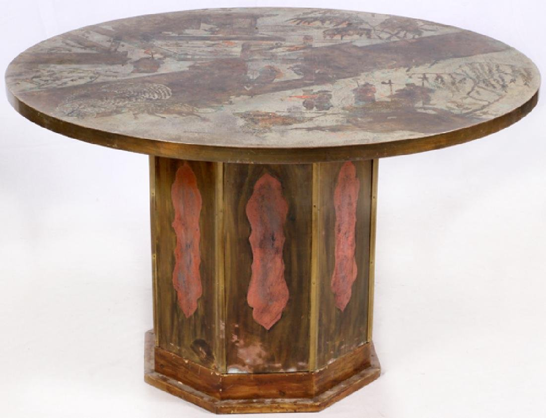 PHILIP AND KELVIN LAVERNE MIXED MEDIA TABLE