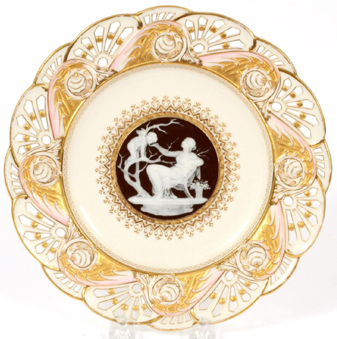MINTONS PATE-SUR-PATE PORCELAIN PLATE BY SOLON 1886