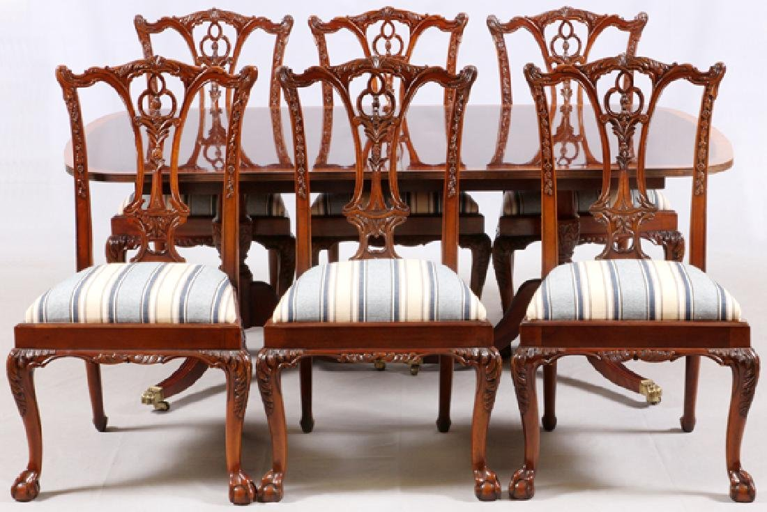 HICKORY WHITE MAHOGANY CHIPPENDALE STYLE DINING SET   Sep 16, 2017 |  DuMouchelles In MI