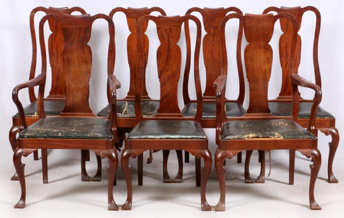 CENTENNIAL QUEEN ANNE STYLE MAHOGANY DINING CHAIRS