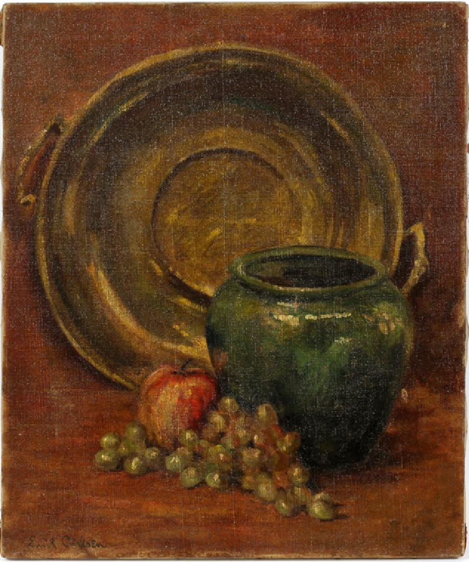EMIL CARLSEN STILL LIFE WITH GRAPES AND JAR