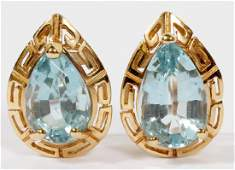 3.75 CT. TOPAZ 14 KT. YELLOW GOLD EARRINGS PAIR TW. 5.9