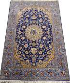 VERY FINE PERSIAN SILK AND WOOL CARPET