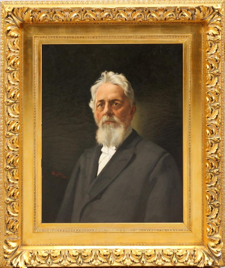 PERCY IVES OIL ON CANVAS PORTRAIT OF A MR. HAMILTON