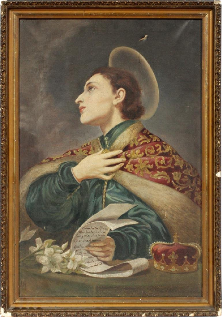 AFTER CARLO DOLCI OIL ON CANVAS 19TH C.