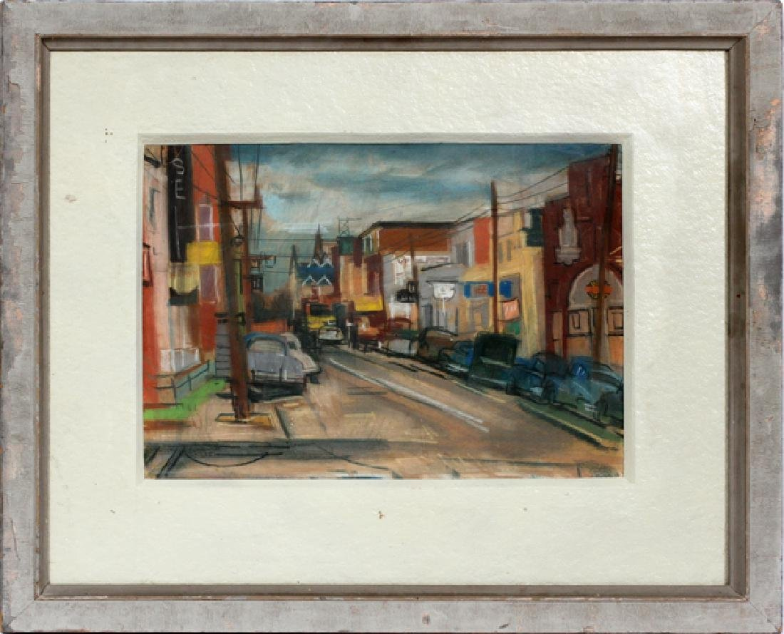 LOUIS PENFIELD PASTEL DRAWING ON PAPER 1951