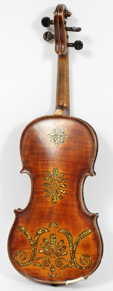 GERMAN VIOLIN MOTHER OF PEARL INLAY, BOW C. 1900 - 2