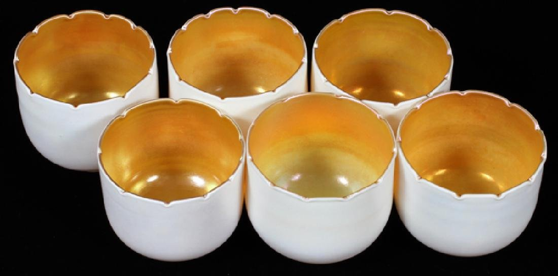 GROUP OF SIX QUEZAL ART GLASS SHADES EARLY 20TH C. - 4