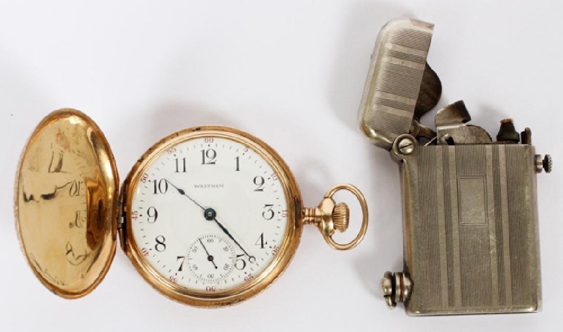 WALTHAM 14K YELLOW GOLD HUNTING CASE POCKET WATCH