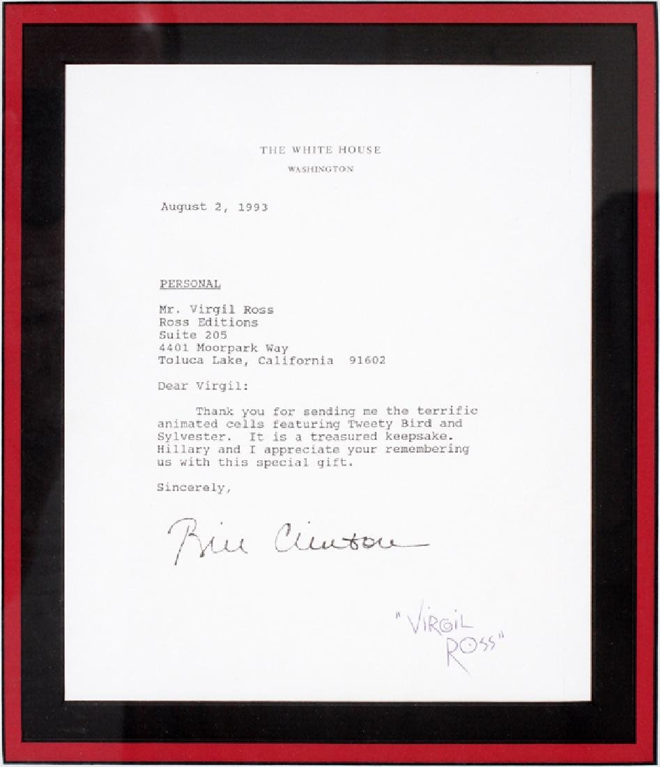 COLOR DRAWING AND BILL CLINTON LETTER - 3