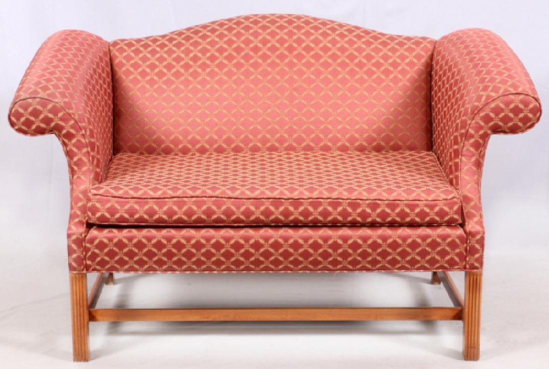 CHIPPENDALE STYLE CAMELBACK SETTEE