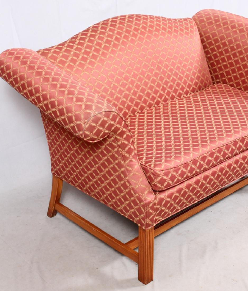 CHIPPENDALE STYLE CAMELBACK SETTEE - 2