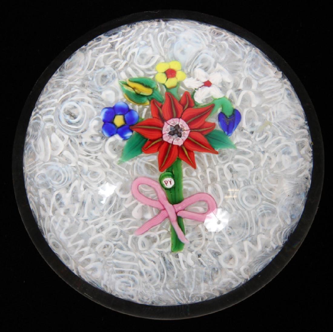 PAUL YSART ART GLASS PAPERWEIGHT LATE 20TH C. - 2