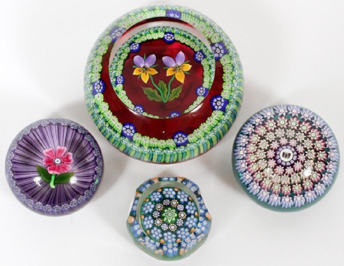 PERTHSHIRE PAPERWEIGHTS 4 PCS.