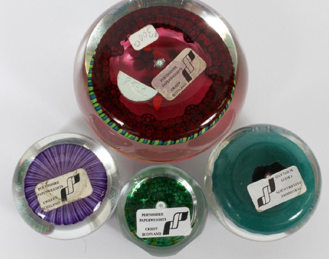 PERTHSHIRE PAPERWEIGHTS 4 PCS. - 2