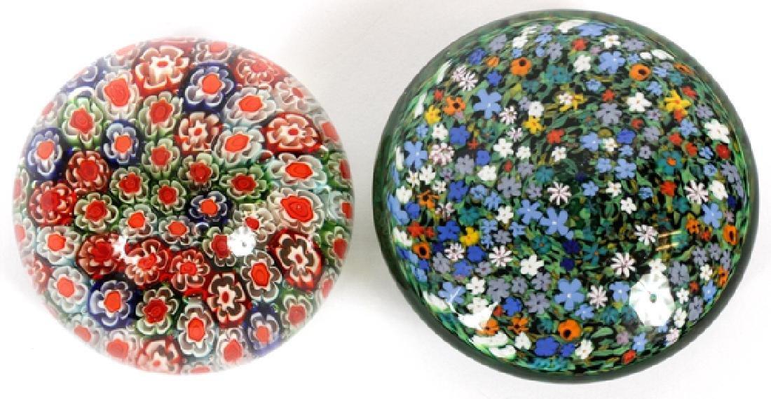 ART GLASS PAPERWEIGHTS 2 PCS.