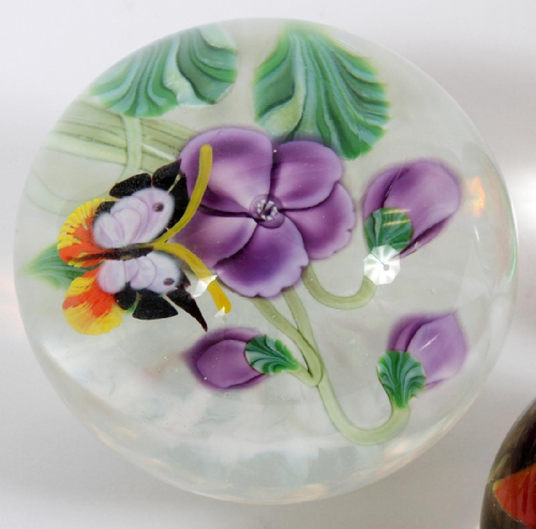 ART GLASS PAPERWEIGHTS 5 PCS. - 2