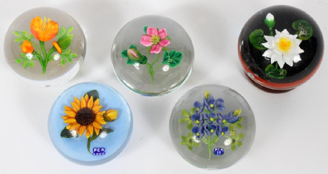PCA GLASS PAPERWEIGHTS 5 PCS.