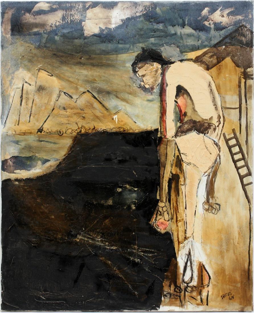 JEREMY SMITH OIL ON CANVAS 1965