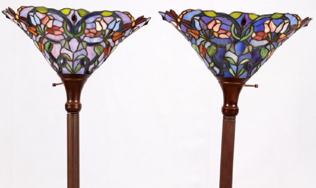 LEADED STAINED GLASS TORCHIER - 2