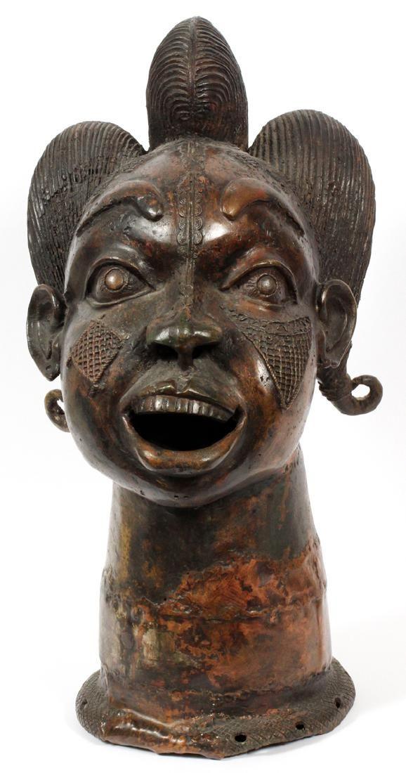 AFRICAN BRONZE HEADDRESS