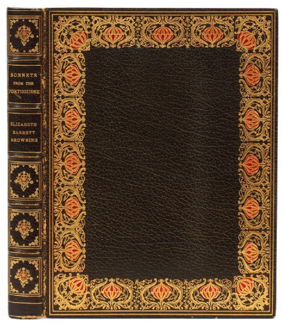 ELIZABETH BARRETT BROWNING LEATHER BOUND BOOK