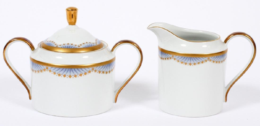 FABERGE PORCELAIN COVERED SUGAR AND CREAMER 2 PCS.