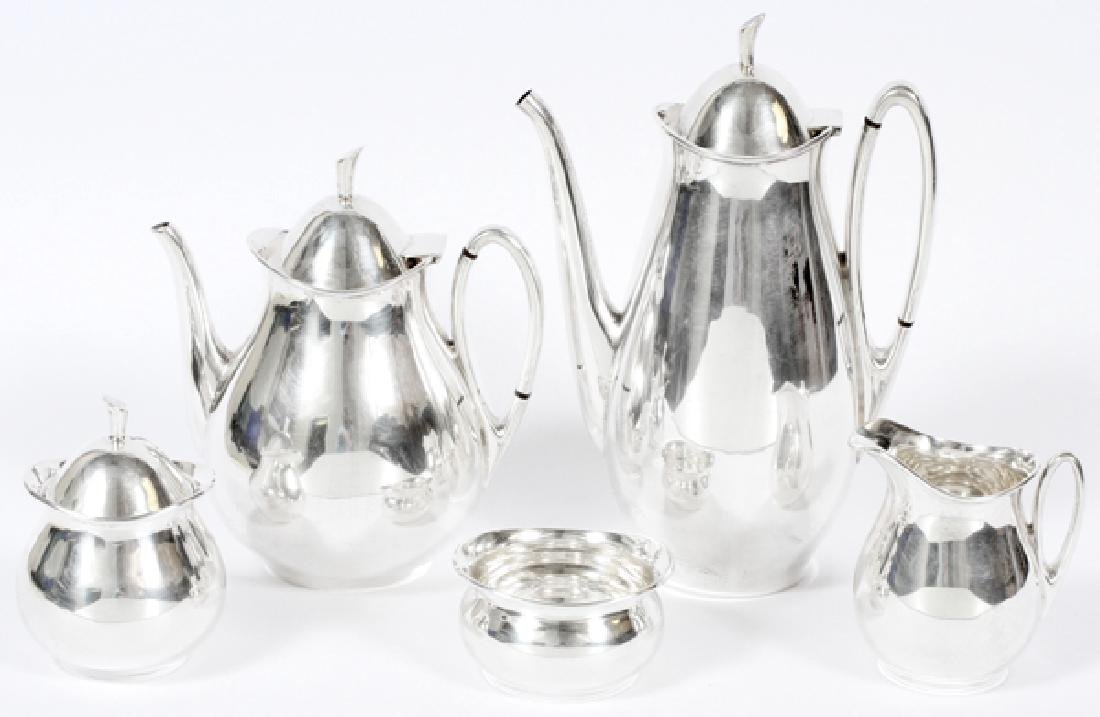 TANGO ACEVES MEXICAN STERLING TEA AND COFFEE SET