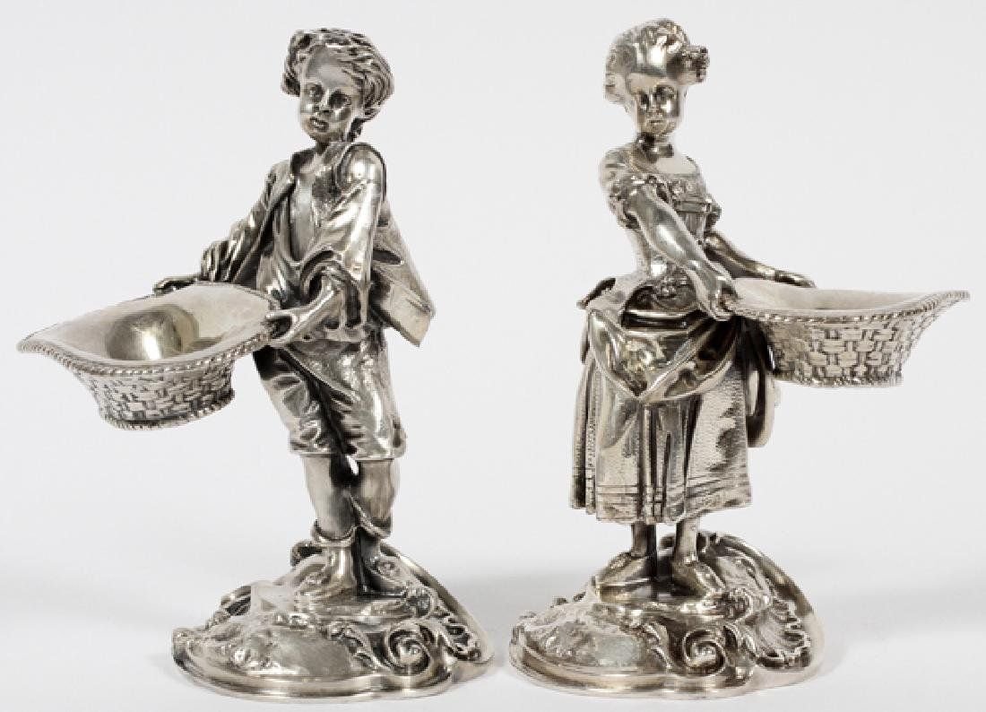 ELKINGTON & CO SILVER PLATE FIGURAL TABLE ORNAMENTS