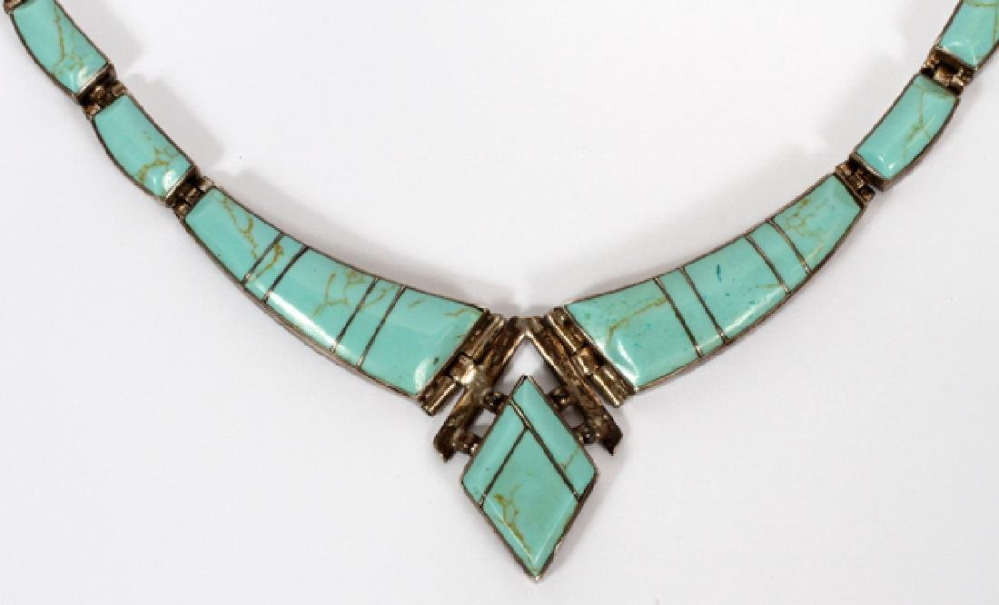 MEXICAN TURQUOISE AND STERLING NECKLACE - 2