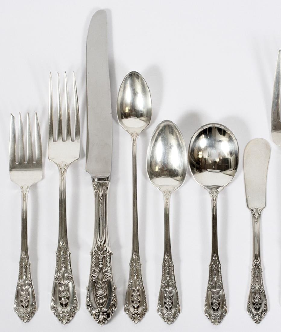 WALLACE 'ROSE POINT' STERLING FLATWARE SERVICE - 2