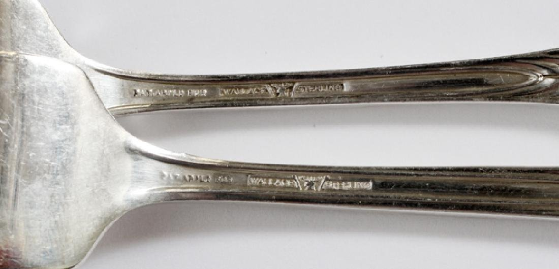 WALLACE 'ROSE POINT' STERLING FLATWARE SERVICE - 3