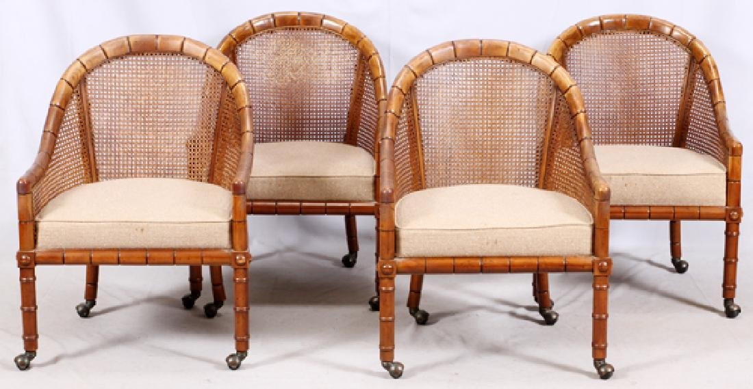 CANED AND UPHOLSTERED DINING SET - 3