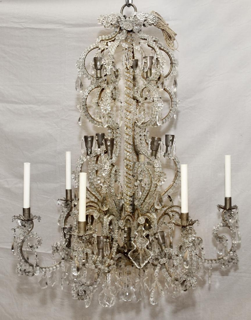 FOYER VINTAGE CRYSTAL CHANDELIER
