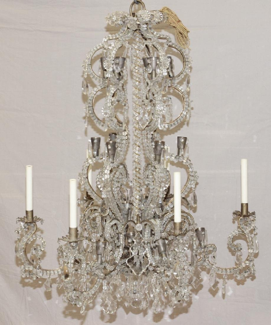 FOYER VINTAGE CRYSTAL CHANDELIER - 2