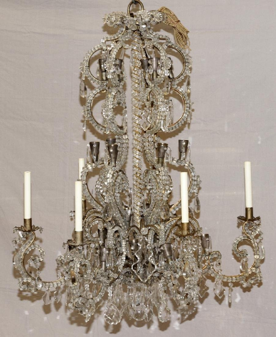 FOYER VINTAGE CRYSTAL CHANDELIER - 3
