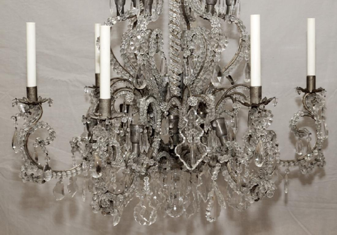 FOYER VINTAGE CRYSTAL CHANDELIER - 4