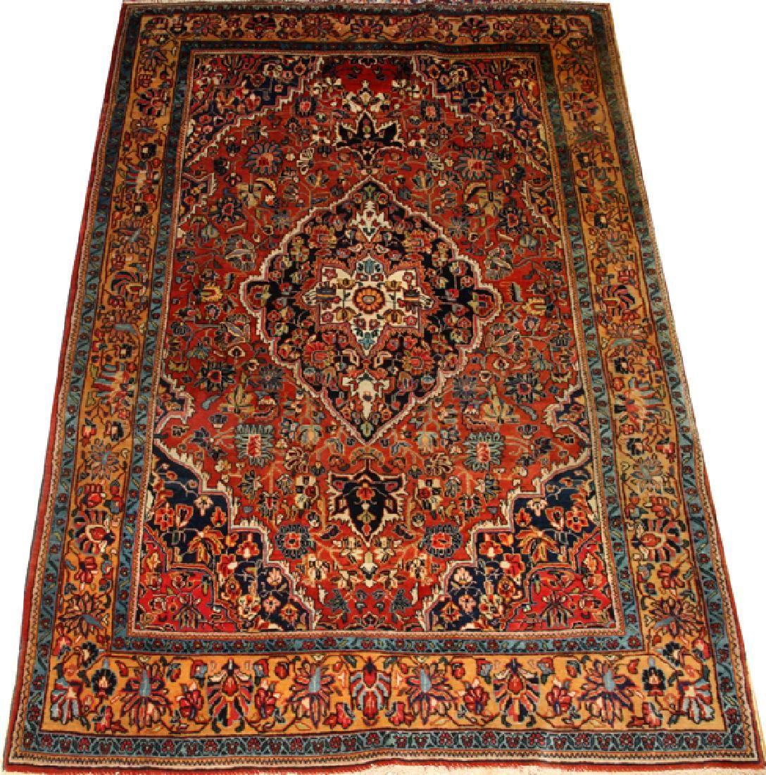 PERSIAN KASHAN SEMI-ANTIQUE CARPET