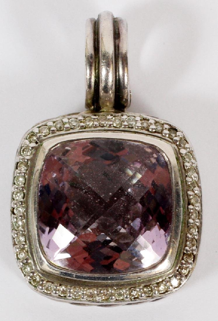 AMETHYST DIAMOND & STERLING SILVER ENHANCER