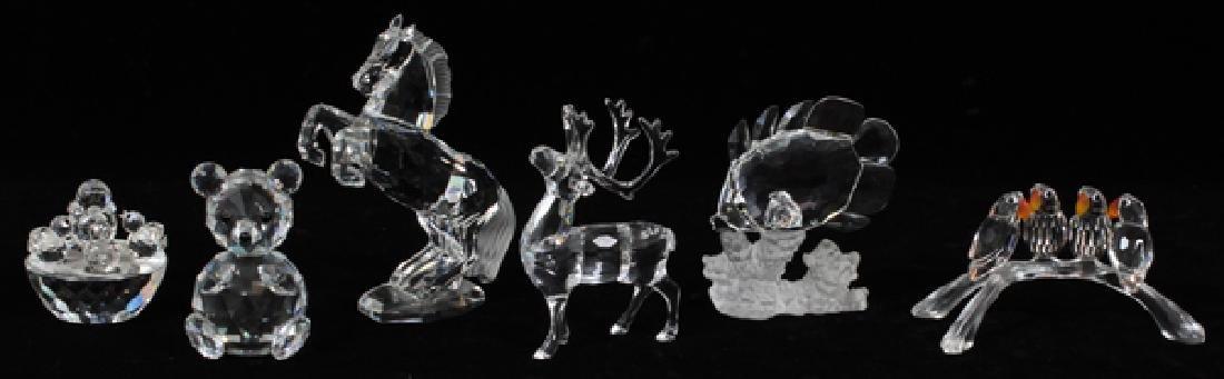 SWAROVSKI CRYSTAL ANIMAL FIGURES SIX PIECES