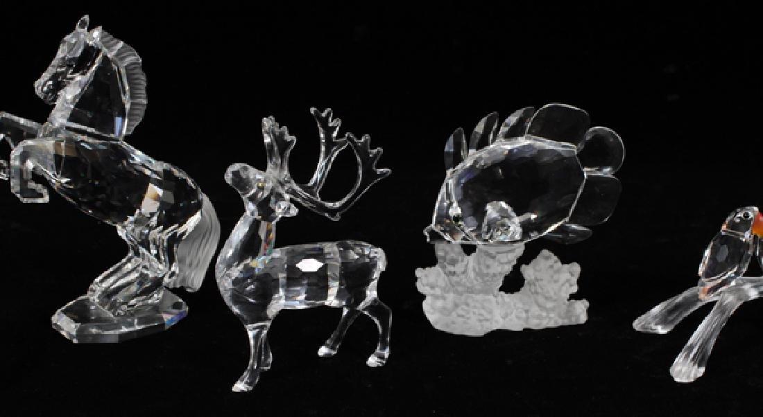 SWAROVSKI CRYSTAL ANIMAL FIGURES SIX PIECES - 3