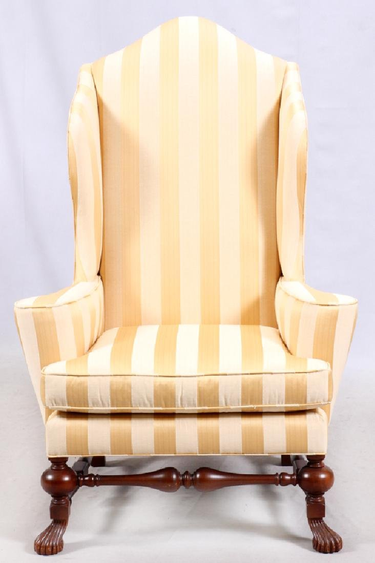 BAKER QUEEN ANNE STYLE WINGBACK ARMCHAIR