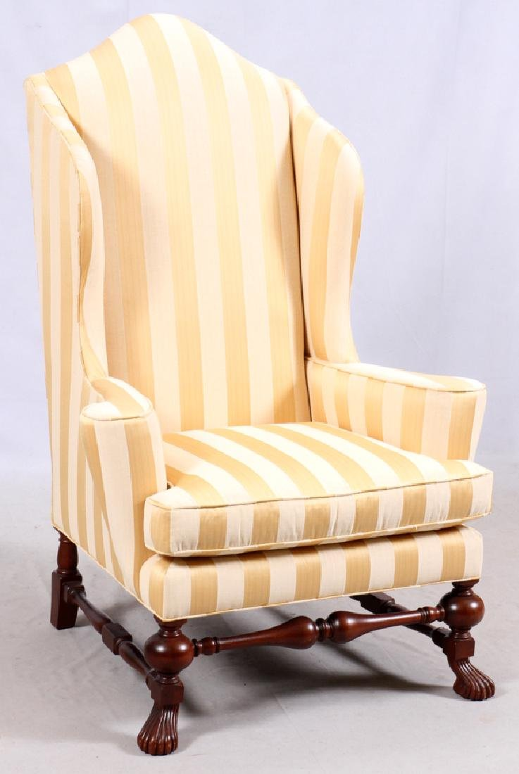 BAKER QUEEN ANNE STYLE WINGBACK ARMCHAIR - 2