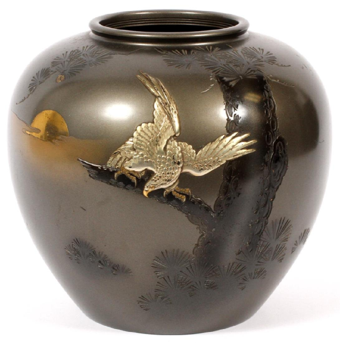 JAPANESE INLAID BRONZE JAR