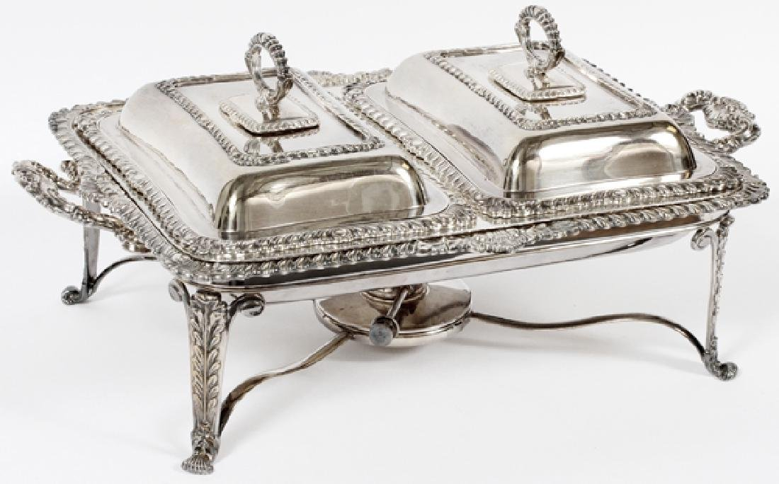ELLIS-BARKER ENGLISH SILVER PLATE CHAFING DISH