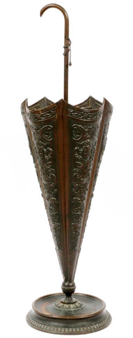 BRASS UMBRELLA HOLDER CIRCA 1890