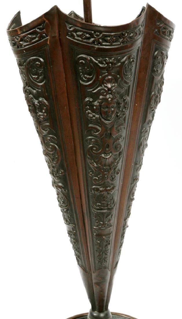 BRASS UMBRELLA HOLDER CIRCA 1890 - 3