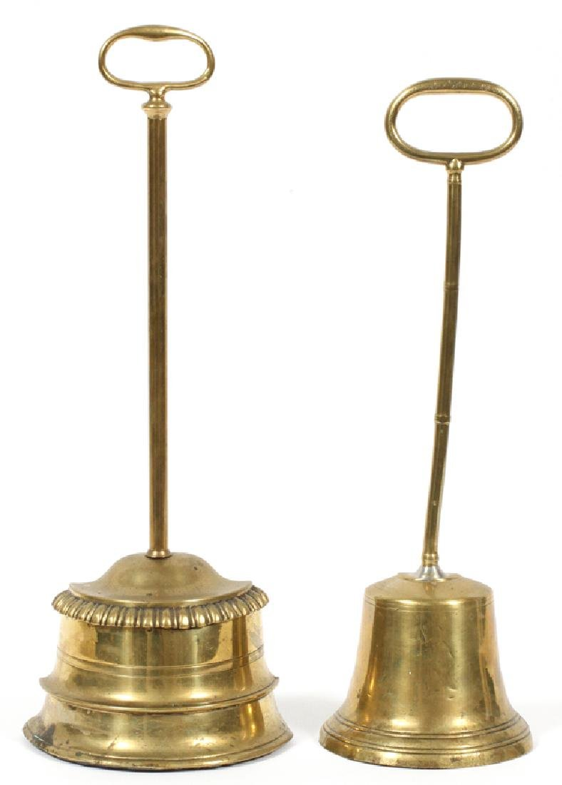 ENGLISH BRASS DOOR STOPS TWO